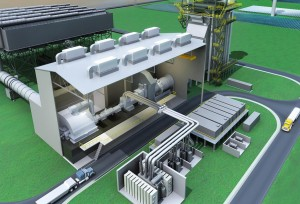 Gas turbines power plants